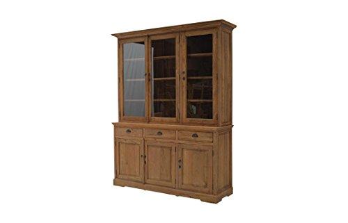 Jungbrunnen, Aufsatzschrank, massiv Teak, unbehandelt, Türen u. Laden, 160x40/50x220 cm