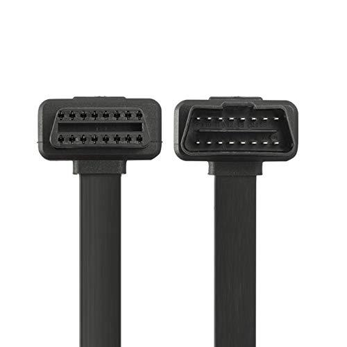 Bolongking OBD-II OBD2 Cable de extensión – Cable plano de 8 pines para Bluetooth WiFi, lectores ECU, escáneres de código OBDII (60 cm)