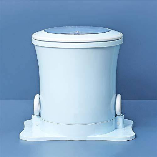 Lavasciuga, mini lavatrice Disidratatore manuale portatile TOPQSC 2kg USB Turbo Lavatrice Scrubber ad ultrasuoni rotativo personale per uso familiare e dormitorio (blu)