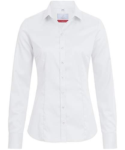 GREIFF Damen Bluse 1/1 Corporate WEAR 6560 Premium Slim Fit - Weiß - Gr. 32
