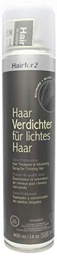 Hairfor2 Haarverdichtungsspray gegen lichtes Haar (400ml, Schwarz)