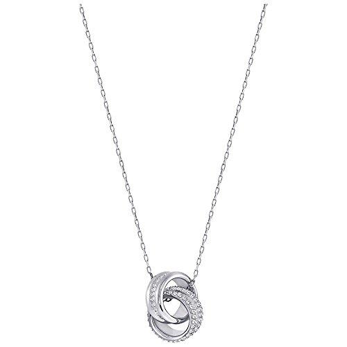 Swarovski Damen-Kette Metall Swarovski Kristalle One Size Silber 32001370