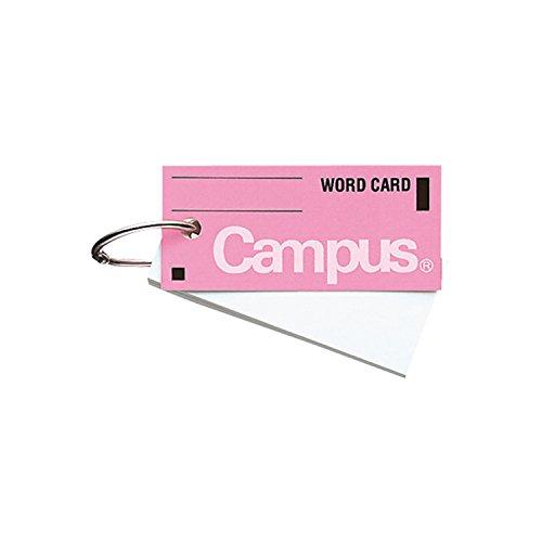 コクヨ キャンパス 単語カード カードリングとじ サイズ中 85枚 ピンク タン-101P