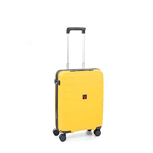 Roncato Skyline Maleta Cabina avión Amarillo, Medida: 55 x 40 x 20 cm, Capacidad: 41 l, Pesas: 2.6 kg, Maleta Cabina avión ryanair