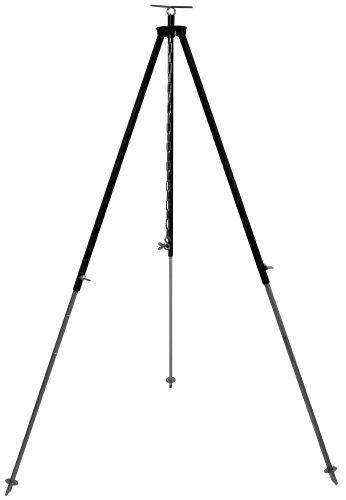 Grillplanet Dreibein Gestell für Gulaschkessel und Schwenkgrill ca. 130 cm mit Kettenhöhenverstellung