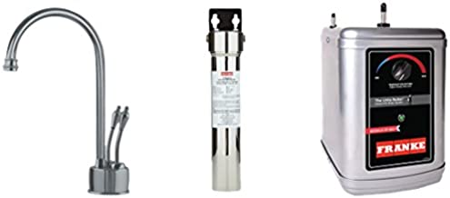 Franke LB6280-FRC-3HT Farm House Little Butler Under Sink 1300W Heat Tank Faucet and Filtration Kit, 9.5 x 17.25 x 14.5, Satin Nickel