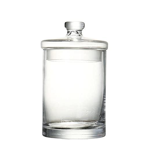 FEIHAIYANY Frascos de almacenamiento de alimentos, 700ml-1500ml Tarro de vidrio libre de plomo hecho a mano Comida de cocina Conjunto de contenedores a granel for especias Caja de ensalada de frutas s