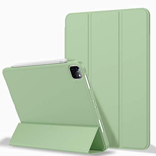 ZryXal Capa para iPad Pro 12.9 2020 com suporte para lápis (4ª geração), Pro12.9-2020-Matcha Green
