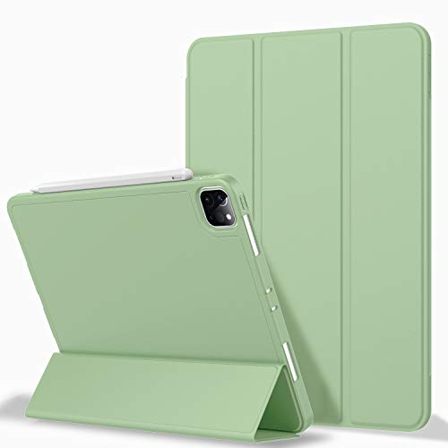iPad Pro 11 Case 2020 with Pencil Holder (2nd Generation), ZryXal Premium Protective Case Cover with Soft TPU Back and Auto Sleep/Wake Feature for 2020/2018 iPad Pro 11 (Matcha Green)