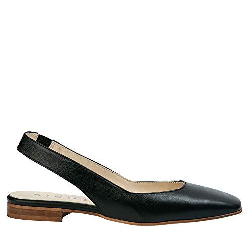 Zapato Plano Destalonado Negro Jenny