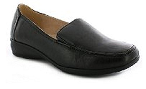 Womens Ladies Flat Wedge Leather Lining