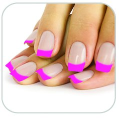 Faux ongles french manucure rose