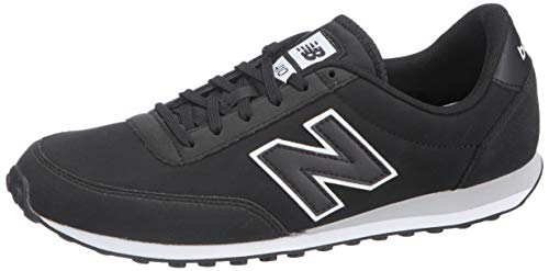 New Balance 410, Zapatillas Hombre, Negro (Black/White/Silver Mink Kwg), 45 EU