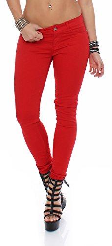 Maryley Damen Jeans S16B690T09 L rot