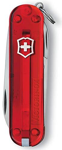 Victorinox Taschenmesser Classic SD (7 Funktionen, Klinge, Schere, Nagelfeile) rot B