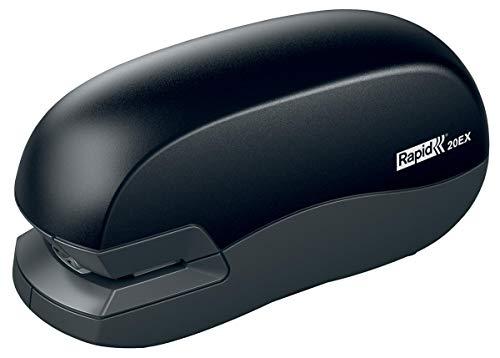 pequeño y compacto RAPID 5000297 – Grapadora eléctrica modelo 20EX fija negra