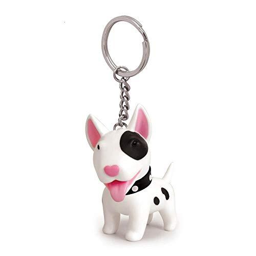 Llavero con diseño de perro, llavero colgante para colgar en el coche, regalo para bolso de mano, White Bull Terrier
