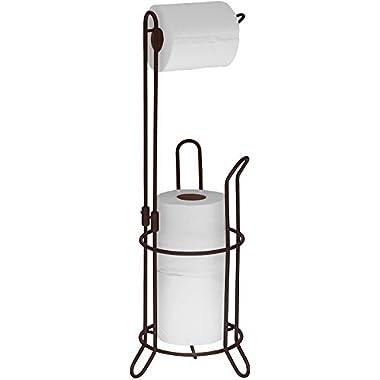 SImpleHouseware Bathroom Toilet Tissue Paper Roll Storage Holder Stand, Bronze