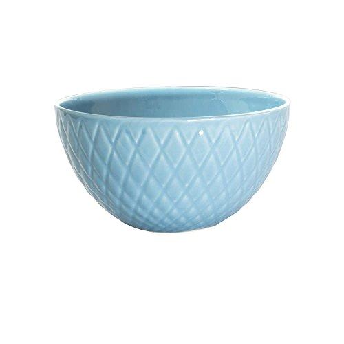 Table Passion - Saladier en faience diamon 25 cm bleu