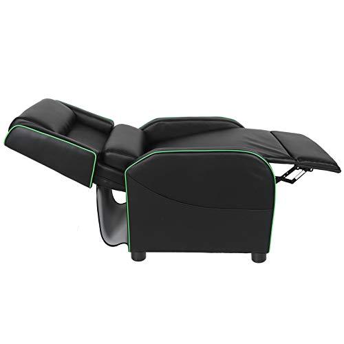 SHYEKYO Sofa Recliner Recliner Stuhllehne Robustes PU-Leder Gaming Recliner für das Wohnzimmer zu Hause(Green)