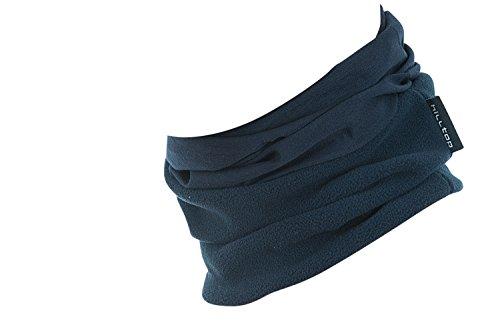 Hilltop Polar Multifunktionstuch mit Fleece, Motorrad Halstuch/Schlauchschal/Ski Gesichtsmaske/TOP Farben, Farbe Polar Tuch:dunkel blau uni