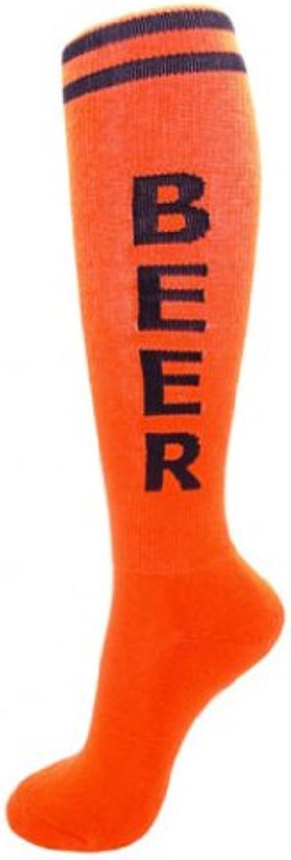 Beer Unisex Knee High Tube Socks in Various colors (orange)