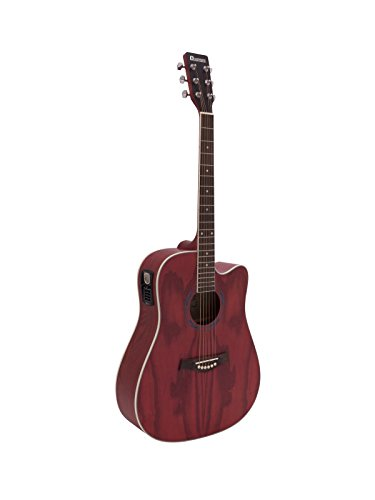 Guitarra acústica JAMES con cutaway, rojo - Aspecto clásico / Instrumento de cuerda - showking