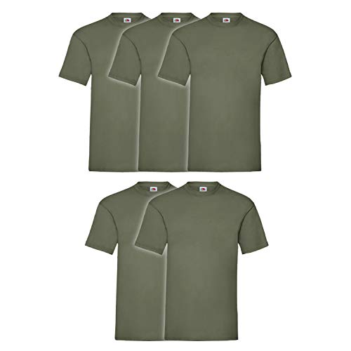 Set 5 T-Shirt Fruit Of The Loom (5 Pezzi Verde Militare - M - 4)