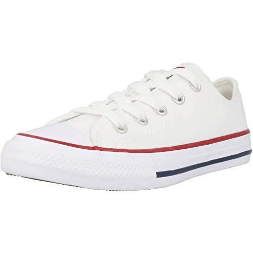 Converse All Star - Zapatillas de caña baja para bebé, Blanco (Blanco), 24 EU