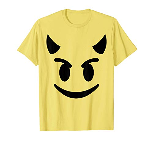 Halloween Emojis Costume Shirt Smiling Devil Face Emoticon T-Shirt