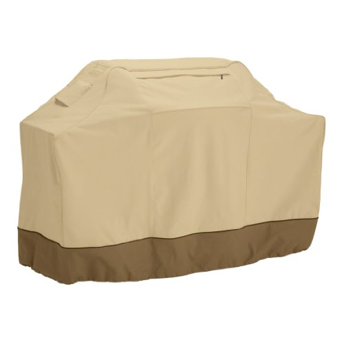 Classic Accessories 73912 Veranda Water-Resistant 58 Inch BBQ Grill Cover,Pebble,Medium