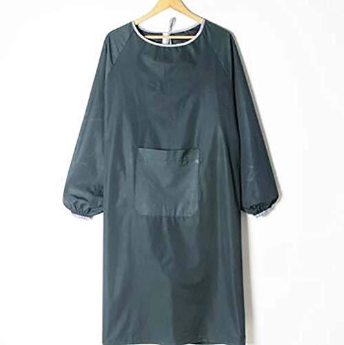 Peiyu wasserdichte Latzhose Langarm Reinigung Erwachsene Kleider Anti-Dress Lange Schürze, B