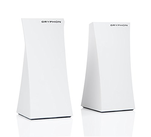 GRYPHON - High Grade Smart Mesh WiFi System, Whole Home Router (up to 6000sqft) AC3000, Tri-Band, Hack Protection w/AI-Intrusion Detection & ESET Malware Protection, Parental Control App - 2 Pack