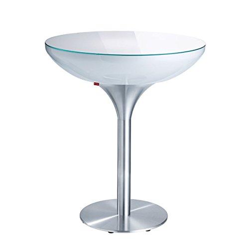 Moree lounge table lounge 105, métallique, Blanc, Aluminium et plastique, 07 – 05 – 03