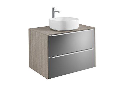 Roca Waschtisch Grundlage für Waschbecken auf Waschtischplatte–Serie inspiriert, Weiß Glanz