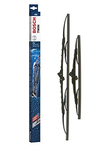 Bosch Tergicristalli Twin 553, Lunghezza: 550mm/340mm, 1 Set per Parabrezza (Anteriore)