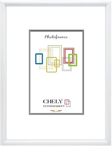 Chely Intermarket, Marco de Fotos 50x70cm (Blanco) Grandes para Pared MOD-316. Decoración | Fotografías de Boda | Listado de Precio | Certificados universitarios(316-50x70-1,30)