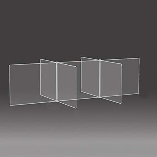 YZDD 6 Personen Verwenden Eine Transparente Trennwand Für Den Schreibtisch, Die Für Speichelschutzschirme Für Schreibtische, Restaurants Und Schulen Geeignet Ist