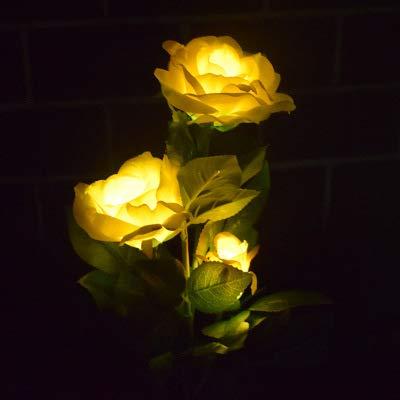 Solar Simulatie Rose LED-verlichting Smart Licht buiten landschapsdecoratie gazon bloemen waterdicht tuin (1 stuks)