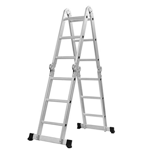 Yongse 3.6M Multifunctionele Aluminium Ladder 4Fold x 3Steps Ladder Scaffold Uitschuifbaar