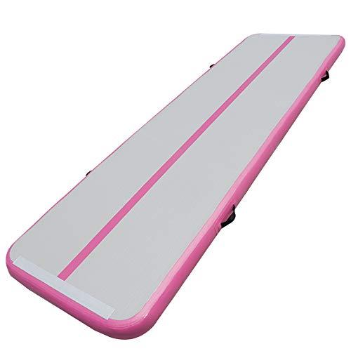 TIGERXBANGGimnasiaTumbling Mat 10 20cmEspesor3 4 5 6m Colchoneta Air Mat Estera de Yoga Taekwondo con Bomba eléctrica(Pink,6x1x0.1m)