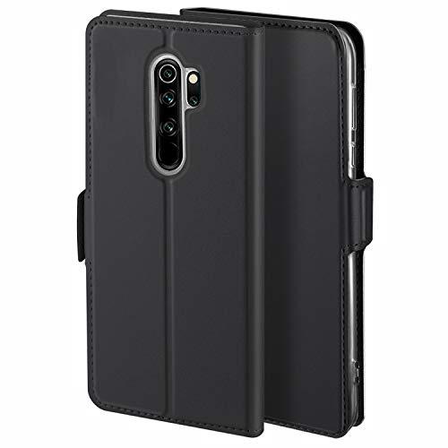 YATWIN Handyhülle für Xiaomi Redmi Note 8 Pro Hülle Leder Premium Tasche Hülle für Redmi Note 8 Pro, Schutzhüllen aus Klappetui mit Kreditkartenhaltern, Ständer, Magnetverschluss, Schwarz