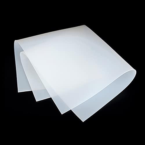XIOFYA 1 unid Hoja de Goma de Silicona 500x500mm Clear Placa translúcida Matra de Alta Temperatura Resistencia al Alta Temperatura 100% Virgin Silikon Rubber Almohadilla (tamaño : 3mm)