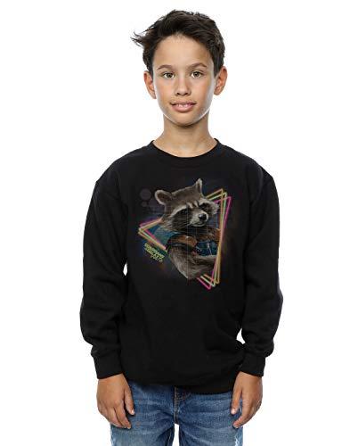Marvel Jungen Guardians of The Galaxy Neon Rocket Sweatshirt 12-13 Years Schwarz