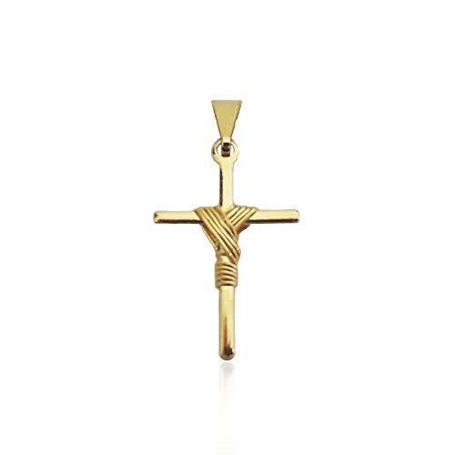 Pingente Mini Cruz Banhado a Ouro 18k