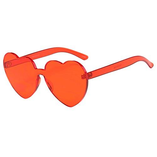 Sharplace Retro Sonnenbrille Herzform Kunststoff Rahmen Herzbrille - rot, wie beschrieben