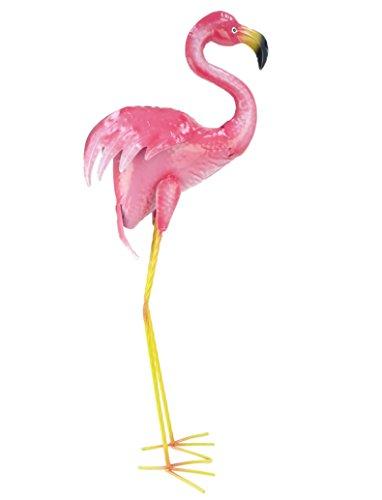 Christmas Concepts® Flamenco de pie de Metal Rosado - Decoración de jardín Interior/Exterior (85cm Rosa)