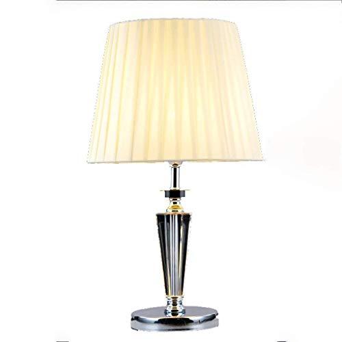 BANANAJOY Personalidad Simple Europea Lámparas de Mesa de Cristal, iluminación Minimalista Moda Sala de Estar Creativa amueblado Estudio Dormitorio Lámparas de Mesa, Leyendo luz de la Noche