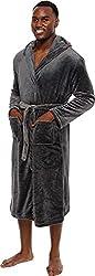 """""""Ross Michaels Mens Hooded Robe - Plush Shawl Kimono Bathrobe"""""""