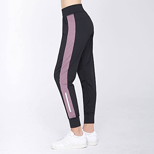 Quzuer Women's Joggers Yoga Pants, Workout Running Sweatpants, For Gym Daily (Pink,S)